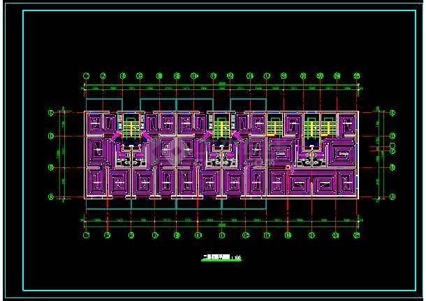 某地住宅楼地板采暖设计CAD图纸-图3