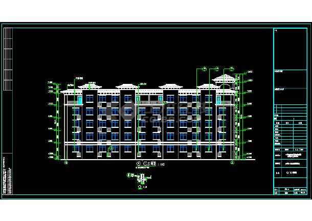点击查看某三层局部两层别墅建筑设计图第2张大图