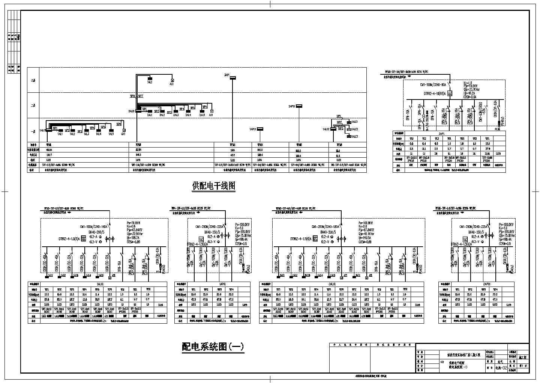 某地区经济开发区标准厂房电气cad设计施工图图片3