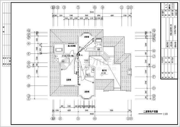 物美别墅建筑电气设计CAD全套施工图-图1