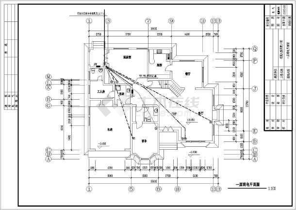 物美别墅建筑电气设计CAD全套施工图-图2