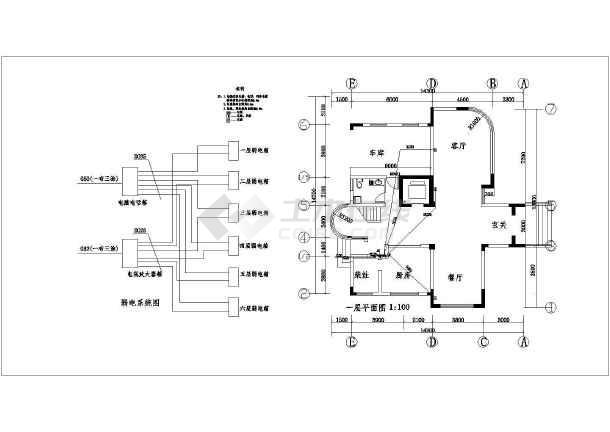 大华别墅建筑电气设计CAD全套施工图-图1