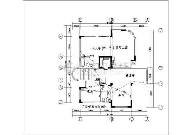 大华别墅建筑电气设计CAD全套施工图-图2