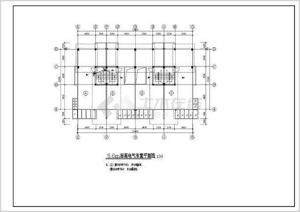 齐河达别墅建筑电气设计CAD全套施工图纸-图1