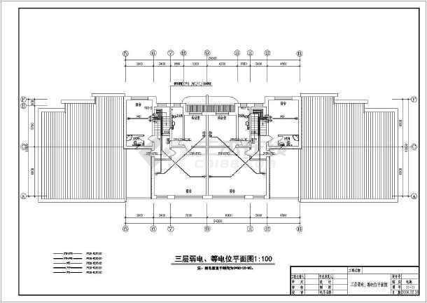 年达别墅建筑电气设计CAD全套施工图 -图2