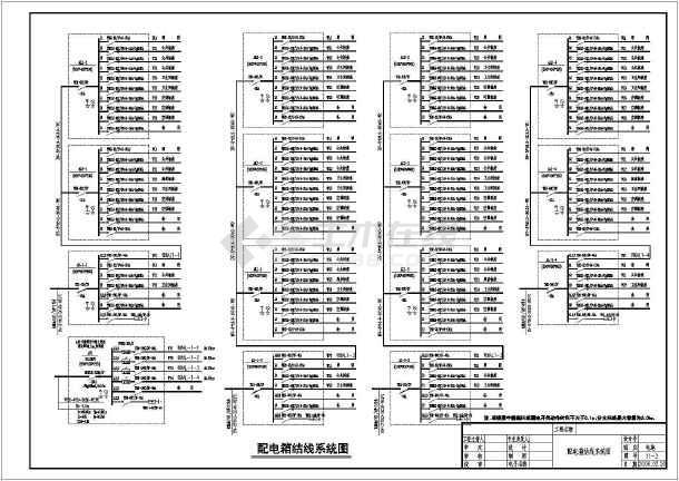 年达别墅建筑电气设计CAD全套施工图 -图3