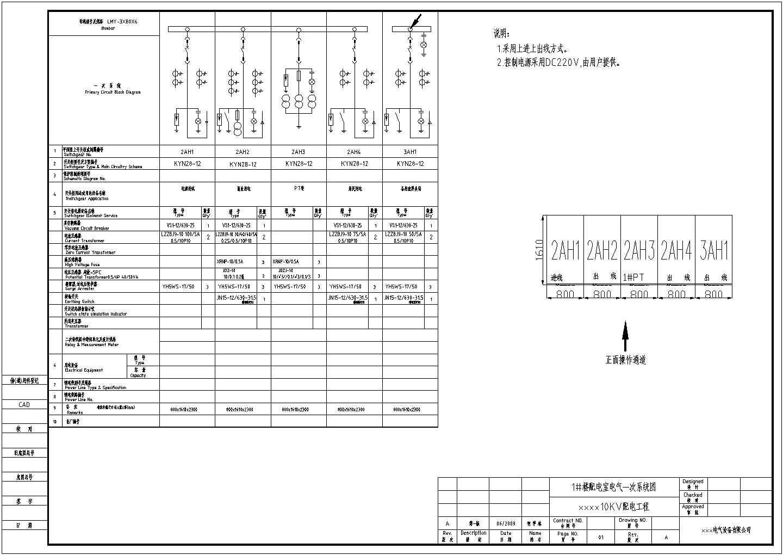 某小区配电高低压开关柜cad电气图纸图片2