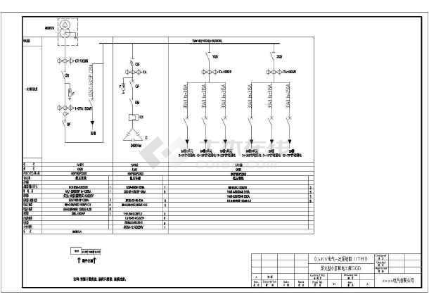 某小区配电用GGD型低压开关柜电气原理图-24台-图一
