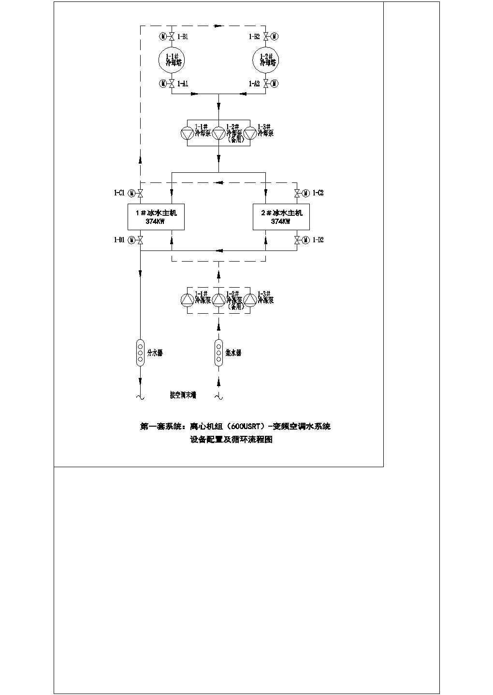 某公司2号中央空调水系统配电及控制电气cad原理图图片1