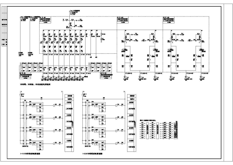 某公司2号中央空调水系统配电及控制电气cad原理图图片2