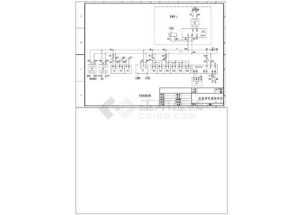 某公司某配电自动化工程监控屏电气cad原理图-图二
