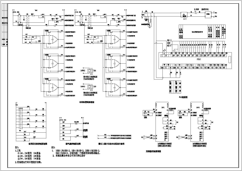 某公司3号中央空调水系统配电及控制电气cad原理图图片3