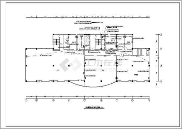 某地区十六层办公综合布线系统电气cad设计施工图-图二