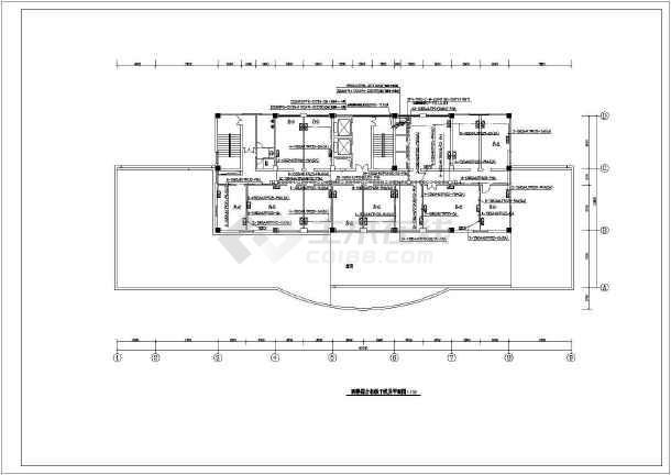 某地区十六层办公综合布线系统电气cad设计施工图-图2
