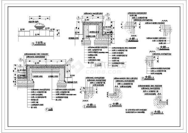 某地公园游船码头广场景观规划设计图-图1