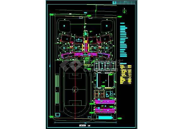 某学校总建筑面积30530平方米规划建筑CAD设计图纸-图1
