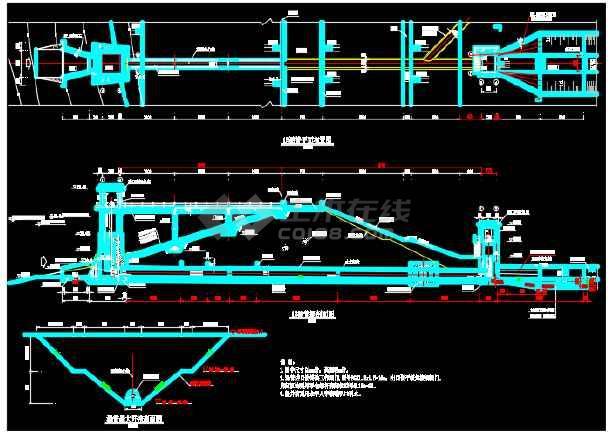 水库除险加固项目施工图(涵管启闭机工作桥)-图2