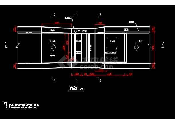 某地水利工程拦河坝结构CAD图-图3