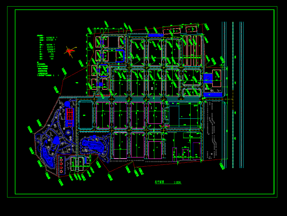 德昌工业城设计cad建筑总平面图图片1