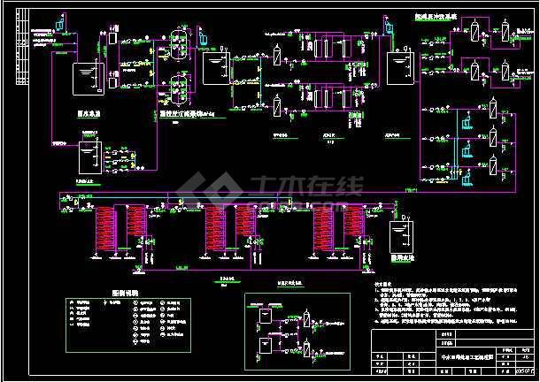 点击查看中水回用及浓水处理系统设计CAD图纸第1张大图