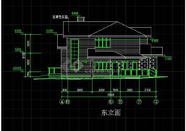 某地一座欧式别墅的CAD施工方案图-图1