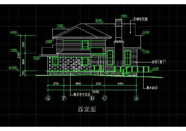 某地一座欧式别墅的CAD施工方案图-图2