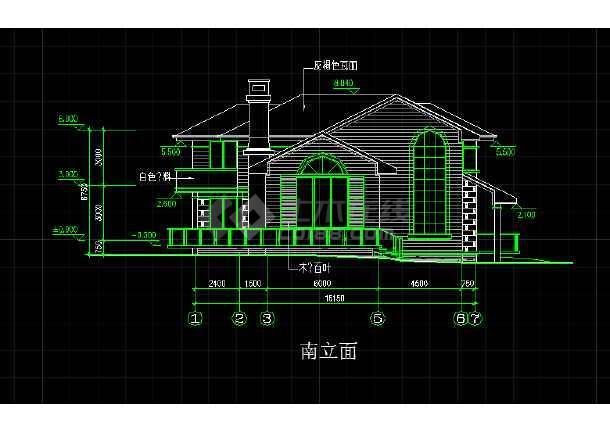 某地一座欧式别墅的CAD施工方案图-图3