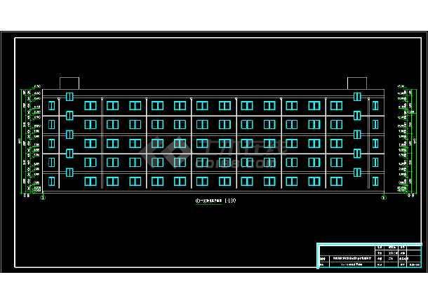5000平米5层框架结构教师公寓楼建筑、结构全套图毕业设计(含建筑图、结构图、计算书、开题报告、综述、翻译、说明)-图1