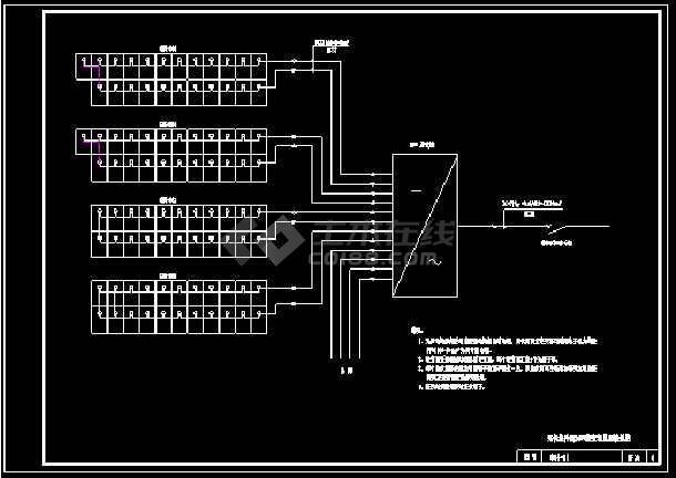 太阳能光伏电站电气设计CAD图纸-图一