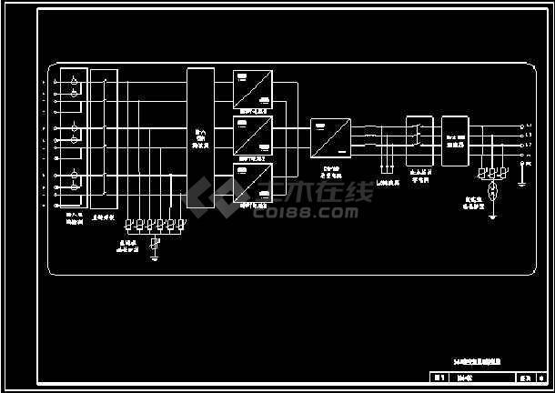 太阳能光伏电站电气设计CAD图纸-图二