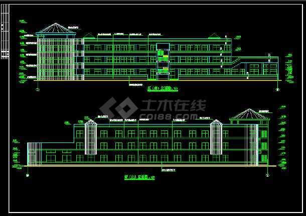 某幼儿园建筑面积3176.5平方米全套建筑CAD施工图纸-图1