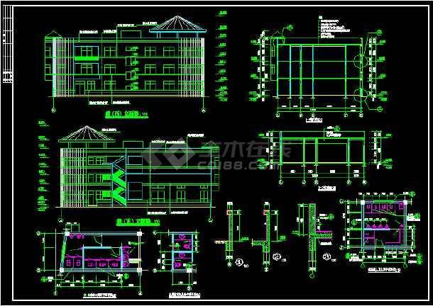 某幼儿园建筑面积3176.5平方米全套建筑CAD施工图纸-图2