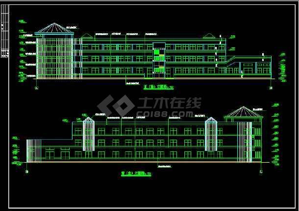某幼儿园建筑面积3176.5平方米全套建筑CAD施工图纸-图3