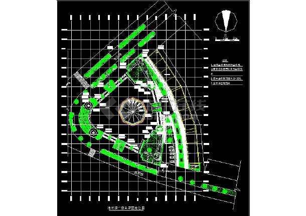 某地淮河源广场园林绿化及施工图(共12张)-图1