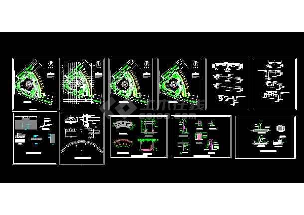 某地淮河源广场园林绿化及施工图(共12张)-图3