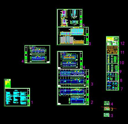 4739.98平米地下一层地上六层框架住宅楼毕业设计投标文件编制(清单报价、建筑图、结构图)图片1