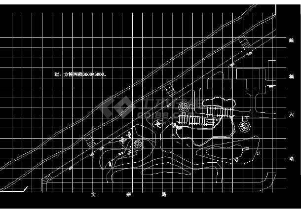某地简单小型公园园林绿化及施工图-图3