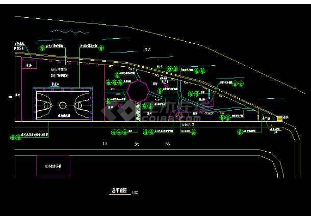某地小公园园林绿化及施工图(全套)-图2
