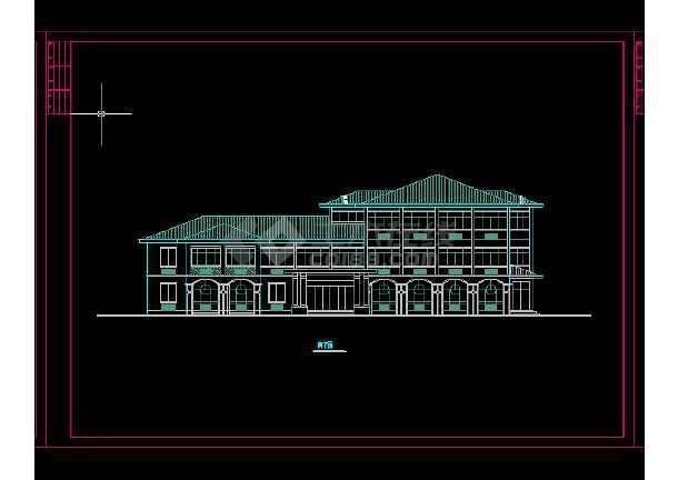 收费站建筑施工及设计全套CAD平面图-图1