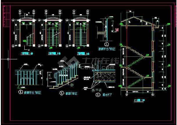 收费站建筑施工及设计全套CAD平面图-图3