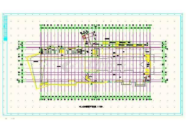 江西某体育会所CAD施工方案详图-图1