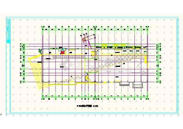 江西某体育会所CAD施工方案详图-图3