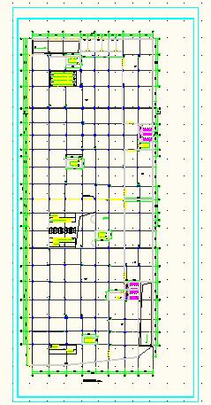 某商场附带地下二层停车场建筑施工图图片2