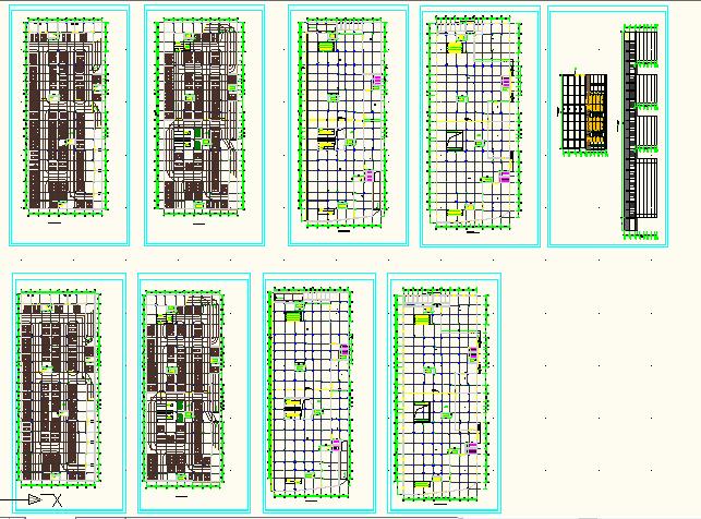 某商场附带地下二层停车场建筑施工图图片1