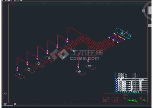 某地区氨压缩机房污水处理氨系统设计图-图2