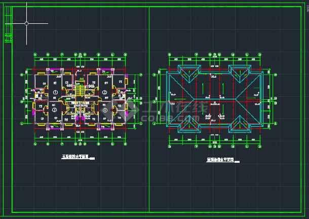 贵州贵阳某多层建筑给排水CAD平面图-图2