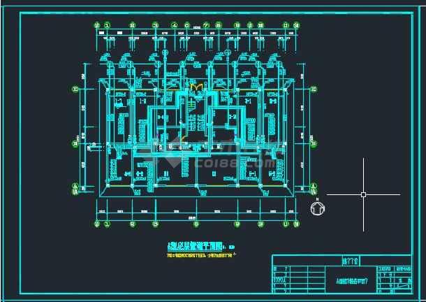 浙江某教师公寓给排水设计CAD图纸-图3