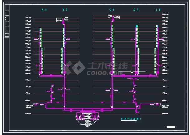 江苏省徐州市某综合楼给排水设计图-图3