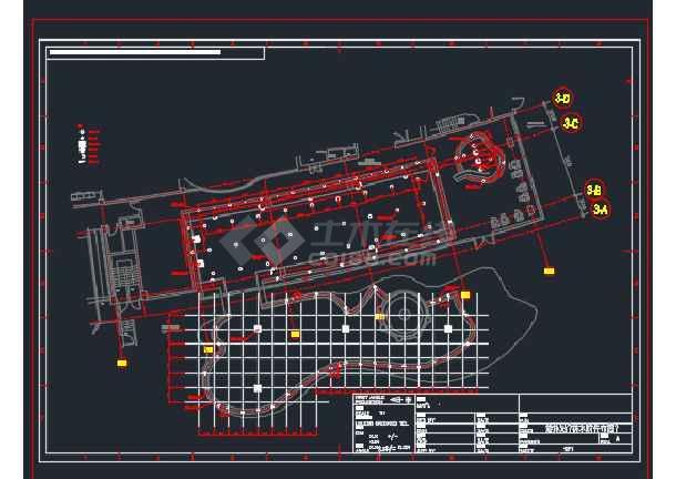 扬州某酒店国际泳池水处理设计CAD图纸 -图1