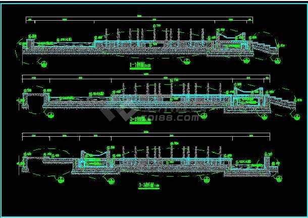 某大型旱喷广场景观规划设计CAD施工图纸-图2